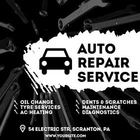 Auto Repair Service video ad 2 Square (1:1) template