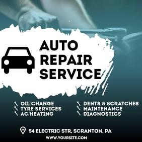 Auto Repair Service video ad Square (1:1) template