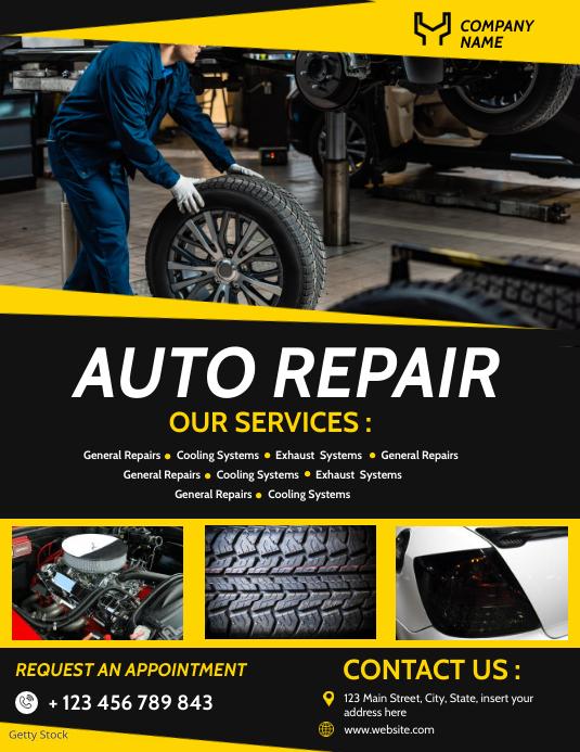 auto repair services flyer advertisement template