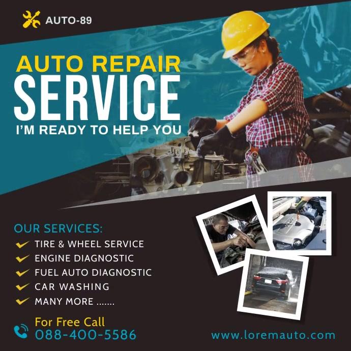 Auto Repair Services Instagram Post template