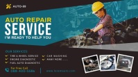 Auto Repair Services Twitter Post template