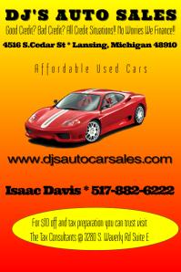 Auto Sales Flyer