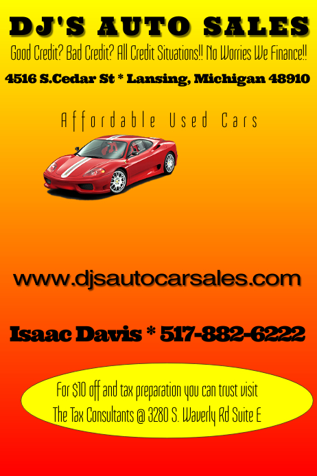 Used Cars Lansing >> Auto Sales Flyer Template | PosterMyWall
