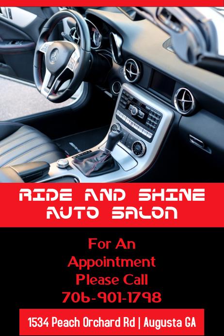 Auto Salon Flyer Плакат template