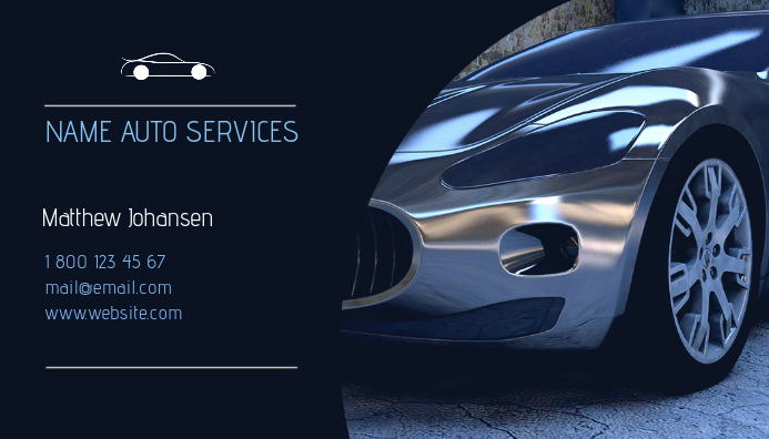 Auto Services Business Card