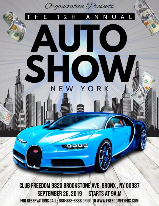 Auto Show Flyer Pamflet (VSA Brief) template