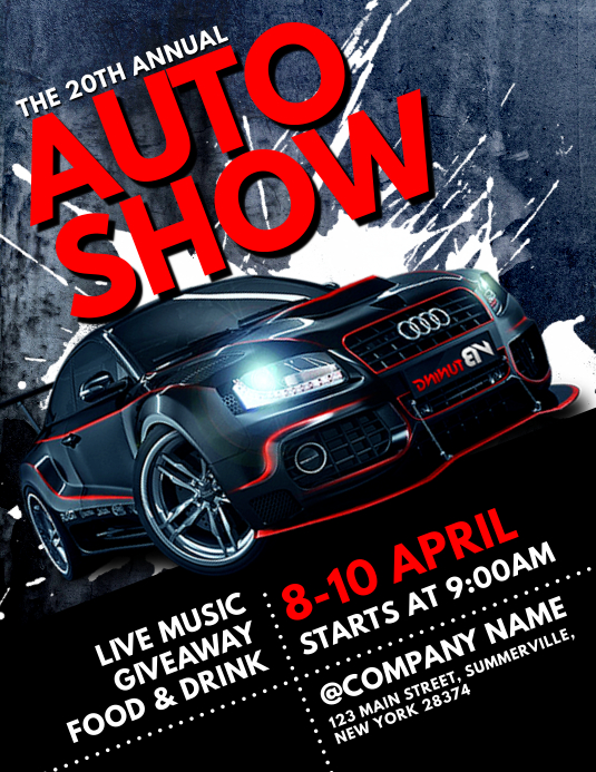 Auto Show Flyer Pamflet (VSA Brief) template