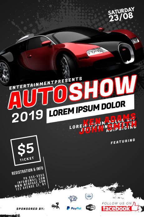Auto Show Flyer Template Plakkaat