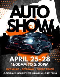 Auto Show Flyer Binoterrainsco - Car and bike show flyer template