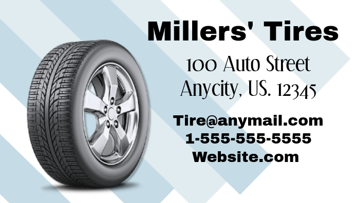 Auto tire business card template postermywall auto tire business card colourmoves