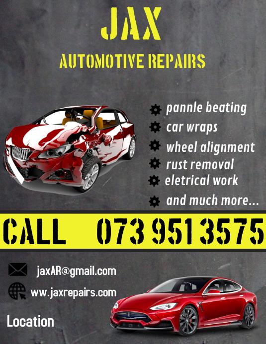 automotive repair flyer template
