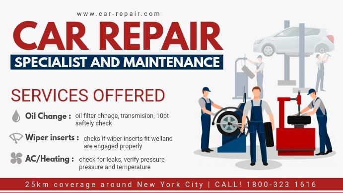 Automotive Repair Service Digital Ad template