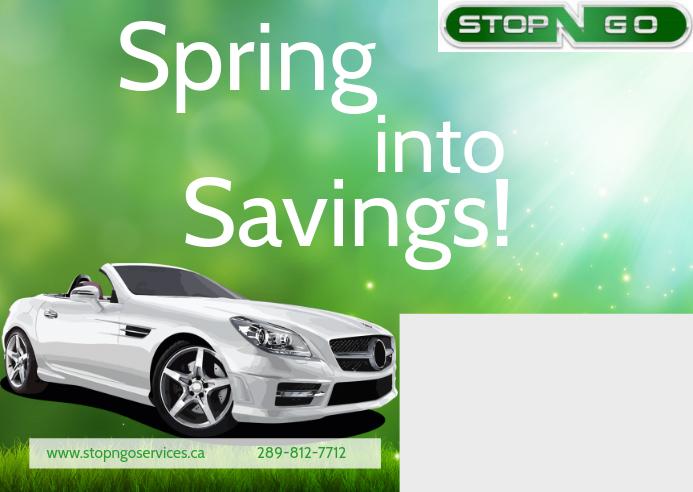 Automotive Savings Postcard Postal template
