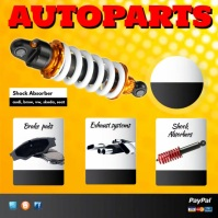 Autoparts Instagram Post template