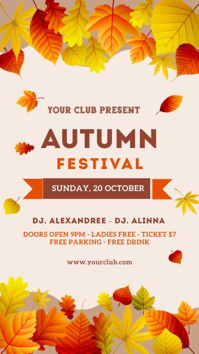 Autumn, autumn festival, event, Thanksgiving Instagram Story template
