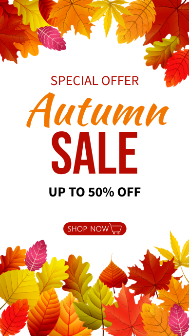 Autumn, autumn festival, event, Thanksgiving Instagram-verhaal template