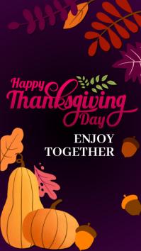 Autumn, autumn festival,event,Thanksgiving Instagram Story template