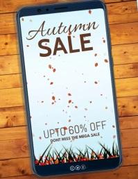 Autumn, Autumn sale, Fall festival Рекламная листовка (US Letter) template