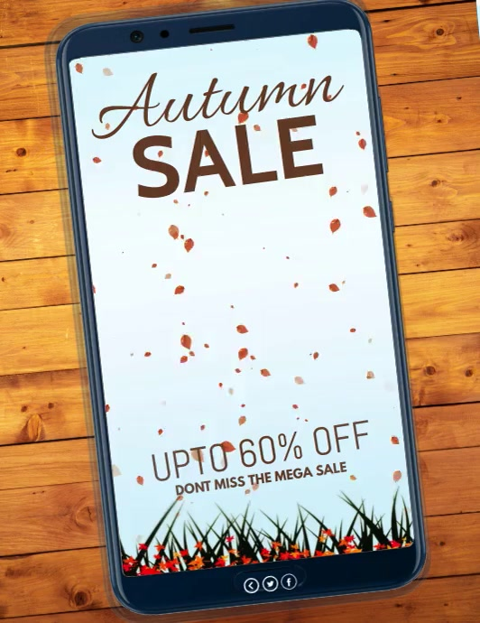 Autumn, Autumn sale, Fall festival Volante (Carta US) template