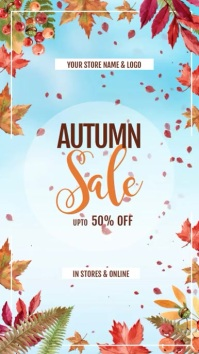 Autumn/Fall Sale Digital Display video ad template