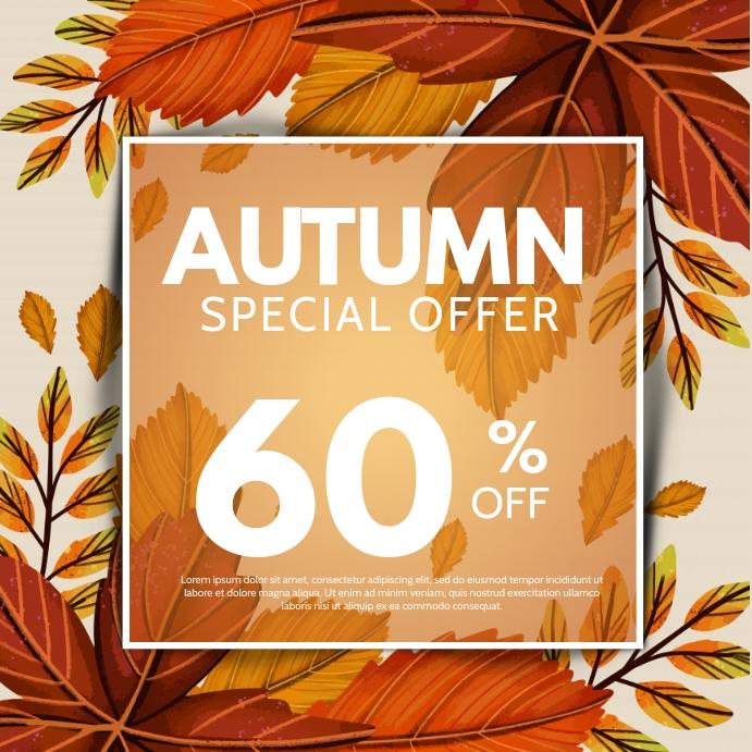 autumn,Fall festival Instagram Plasing template
