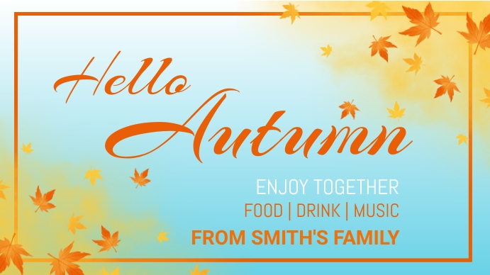 Autumn,Thank you,thanks giving,event Pagtatanghal (16:9) template