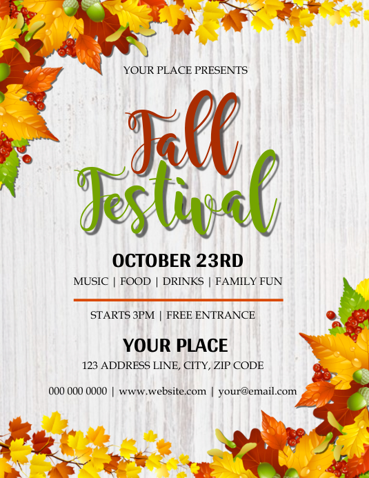 Autumn \ Fall Festival Flyer Template