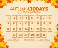 Autumn 30 Days Challenge Template Middelgrote rechthoek