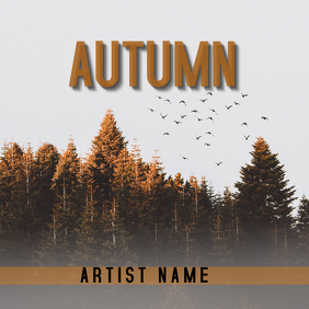 Autumn Album Cover Capa de álbum template