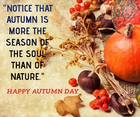 AUTUMN CLIMATE QUOTE TEMPLATE Retângulo grande