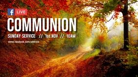 Autumn Communion Service Digital na Display (16:9) template