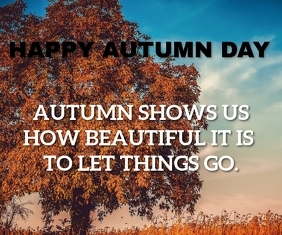 AUTUMN DAY QUOTE TEMPLATE Retângulo grande