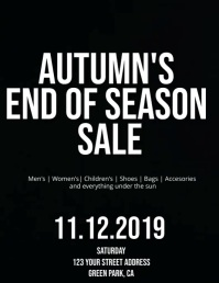 Autumn End of Season Sale Flyer Template