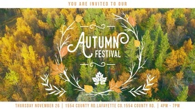 Autumn Event Advertisement Display Video Template