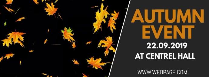 Autumn event facebook cover template Facebook-coverfoto