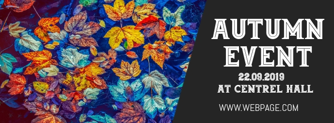 Autumn event facebook cover template
