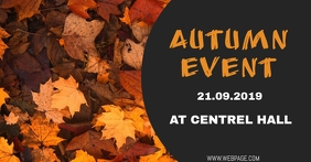Autumn event facebook flyer template