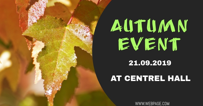 Autumn event facebook flyer template