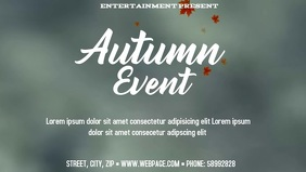 Autumn event facebook video template
