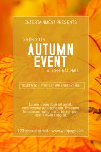 autumn event fest brunch fair poster flyer template
