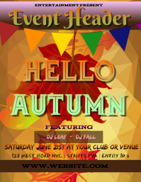 AUTUMN EVENT FLYER POSTER TEMPLATE