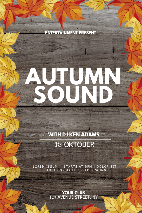 Autumn event flyer template Poster