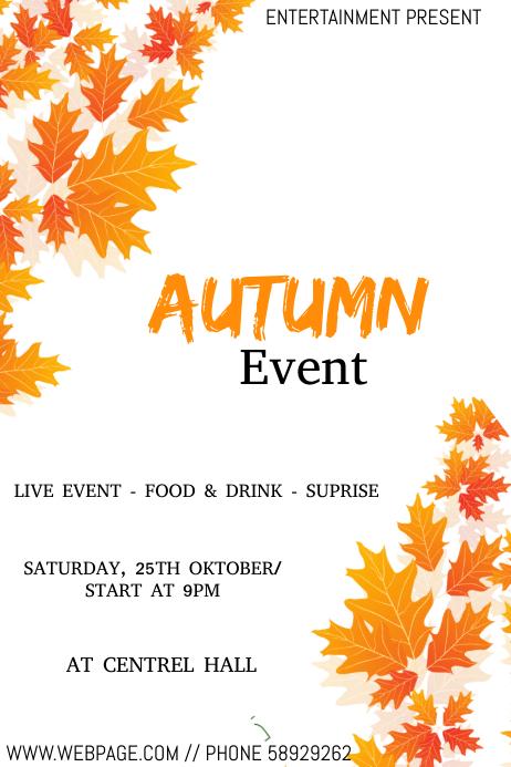 Autumn event flyer template Cartaz