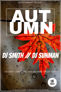 Autumn event party flyer template