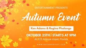Autumn Event Party Invitation Fb Video