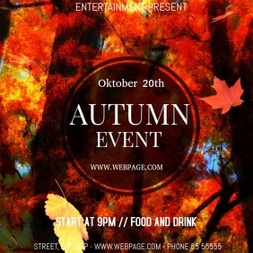 autumn Event party video flyer template
