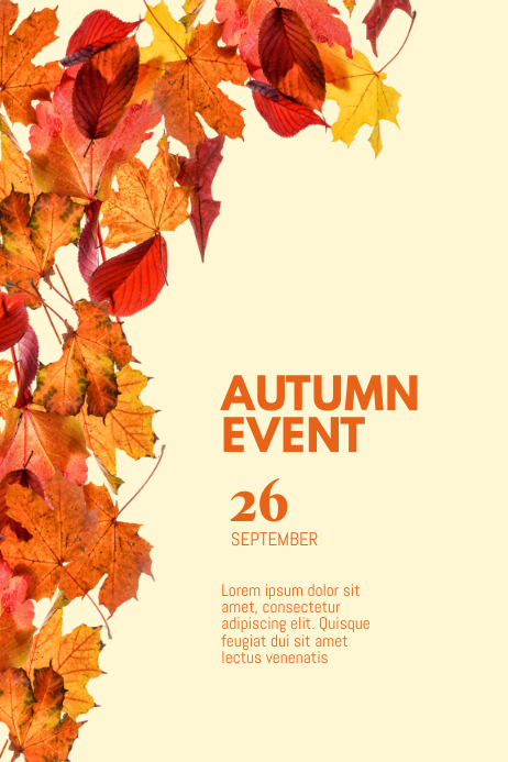 autumn event flyer template
