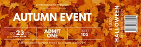 Autumn Event Ticket template Banner 2' × 6'