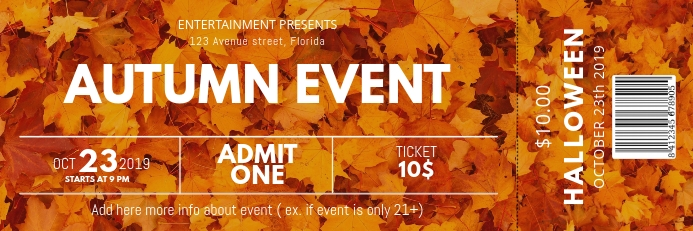 Autumn Event Ticket template