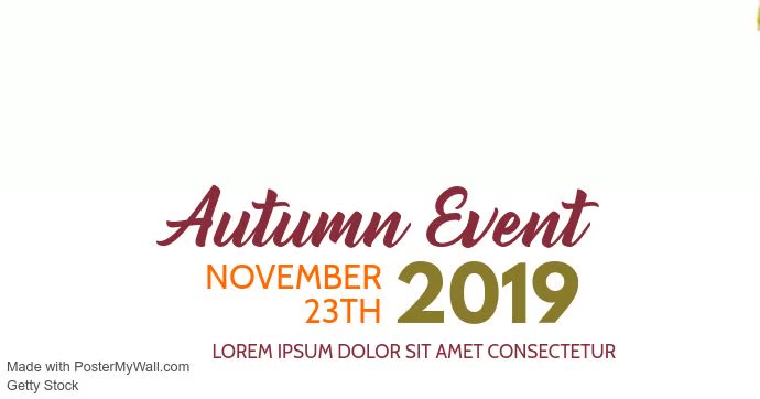 Autumn Event Video Facebook Cover Template